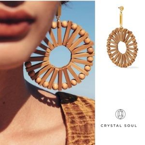 🎉Ethnic Bamboo Wooden Handmade Earrings